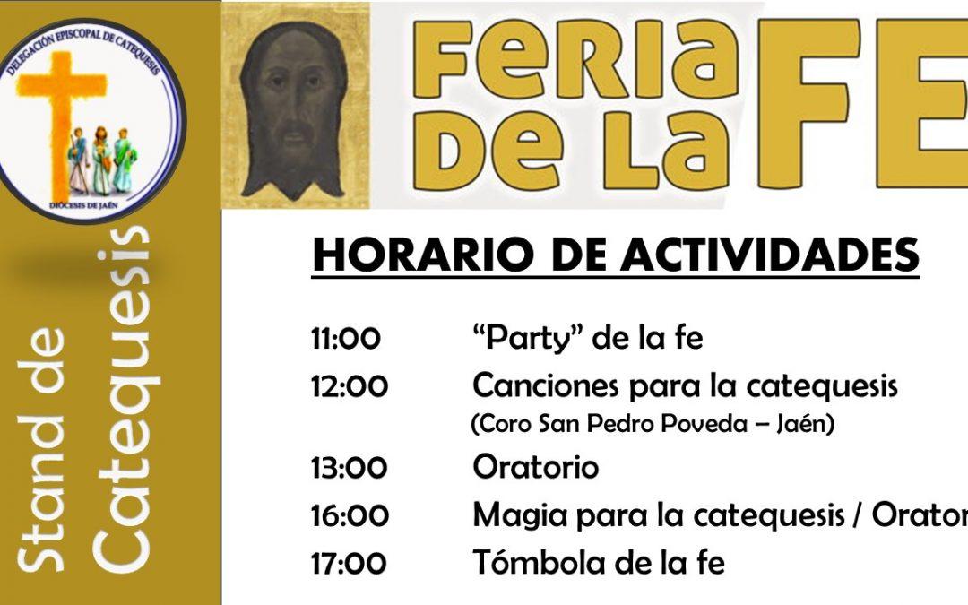 Feria de la Fe. Horario de nuestro stand
