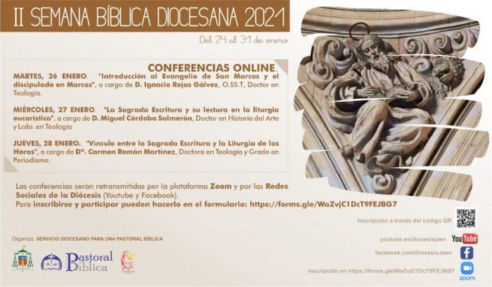 programa de la II Semana Bíblica diócesis de Jaén