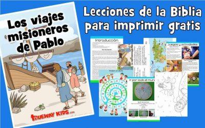 Los viajes misioneros de Pablo. La Biblia para niños de 2-5 años