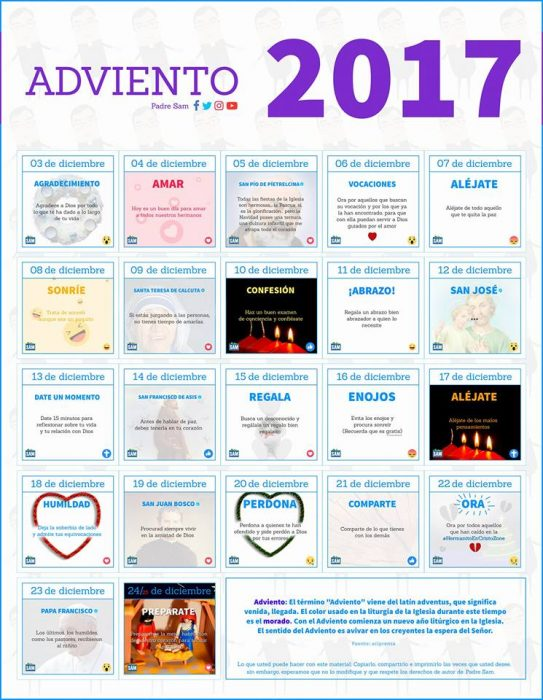 Calendario de Adviento del padre Sam
