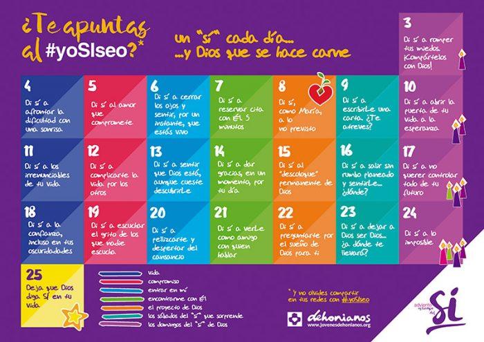 Calendario de Adviento Jóvenes Dehonianos