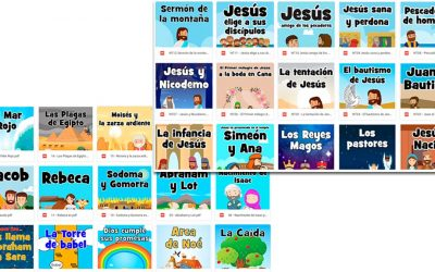La Biblia para niños de 2-5 años (añadido Domingo de Ramos)