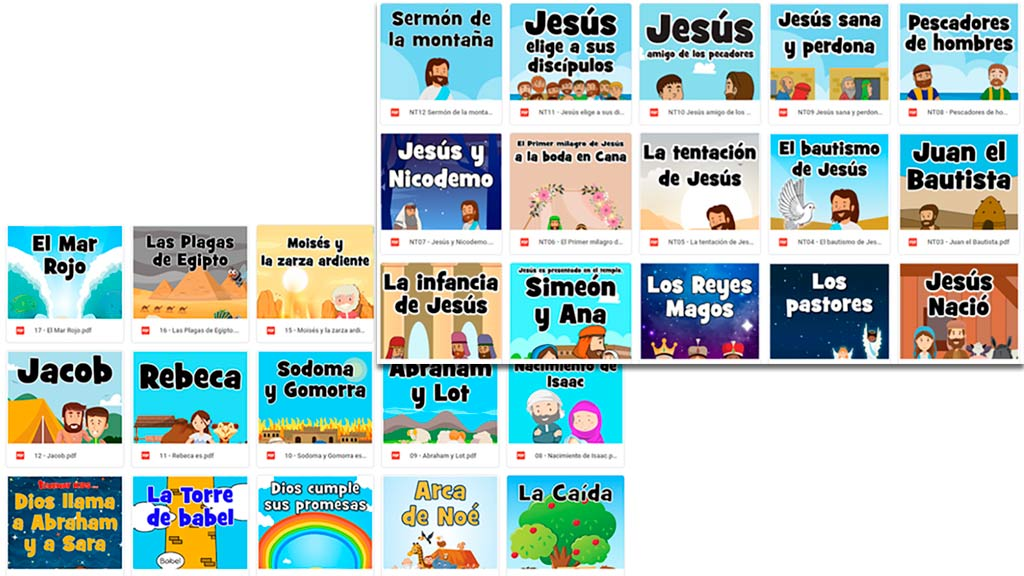 Parábola del buen samaritano. La Biblia para niños de 2-5 años